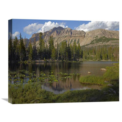 Global Gallery Butterfly Lake, Uinta Range, Utah By Tim Fitzharris, 18 X 24-Inch Wall Art