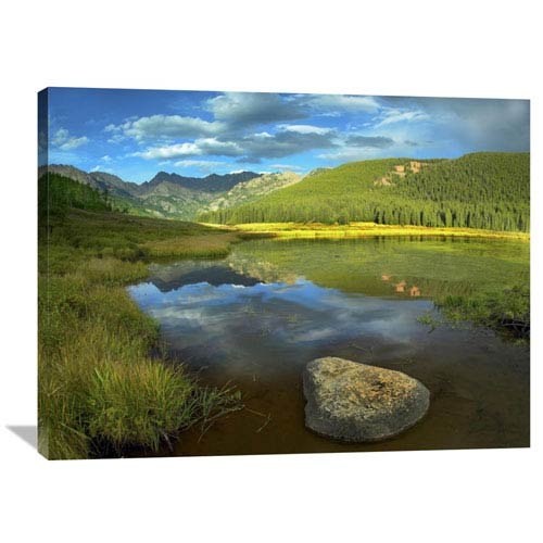 Global Gallery Mt Powell And Piney Lake, Colorado By Tim Fitzharris, 30 X 40-Inch Wall Art