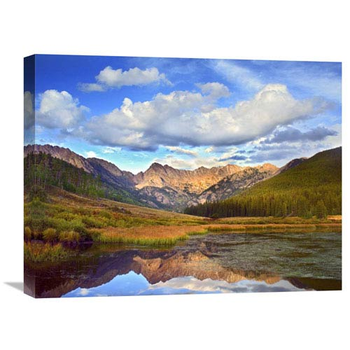 Global Gallery Mt Powell And Piney Lake, Colorado By Tim Fitzharris, 18 X 24-Inch Wall Art