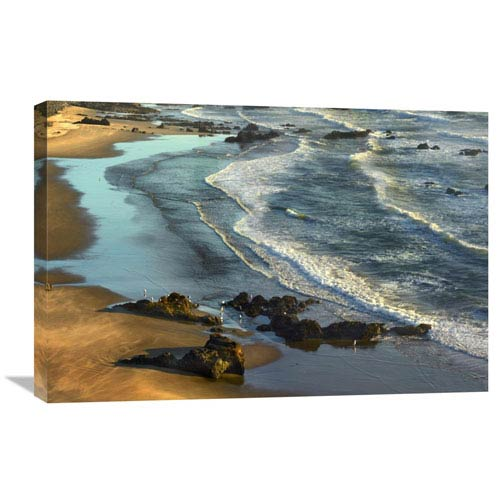 Global Gallery Incoming Waves At Bandon Beach, Oregon By Tim Fitzharris, 20 X 30-Inch Wall Art