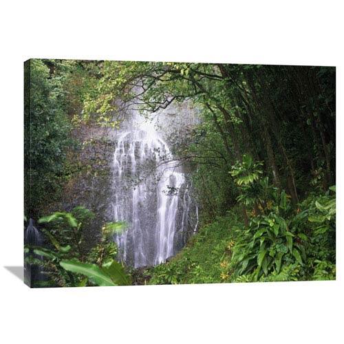 Global Gallery Waterfall Along Hana Coast, Maui, Hawaii By Tim Fitzharris, 30 X 40-Inch Wall Art