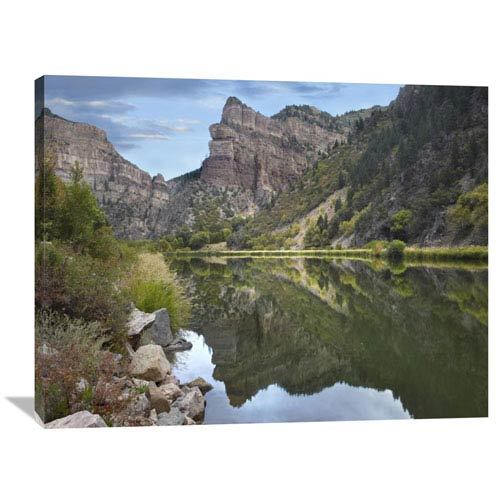 Global Gallery Colorado River, Glenwood Canyon, Colorado By Tim Fitzharris, 30 X 40-Inch Wall Art