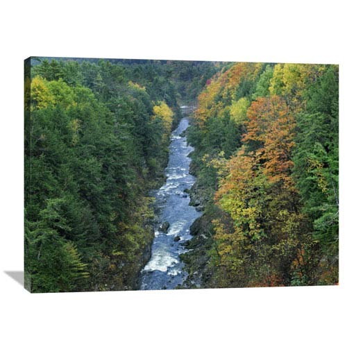 Global Gallery Ottauquechee River And Quechee Gorge, Vermont By Tim Fitzharris, 30 X 40-Inch Wall Art
