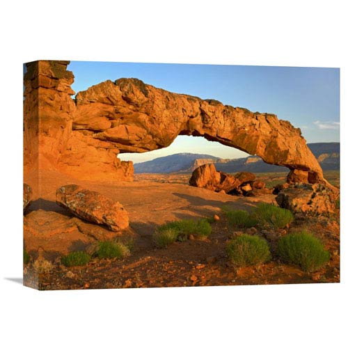 Global Gallery Sunset Arch, Escalante National Monument, Utah By Tim Fitzharris, 12 X 16-Inch Wall Art