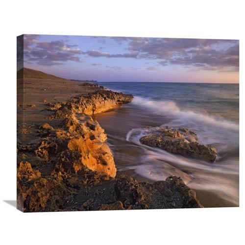 Global Gallery Beach At Dusk, Blowing Rocks Preserve, Florida By Tim Fitzharris, 22 X 28-Inch Wall Art