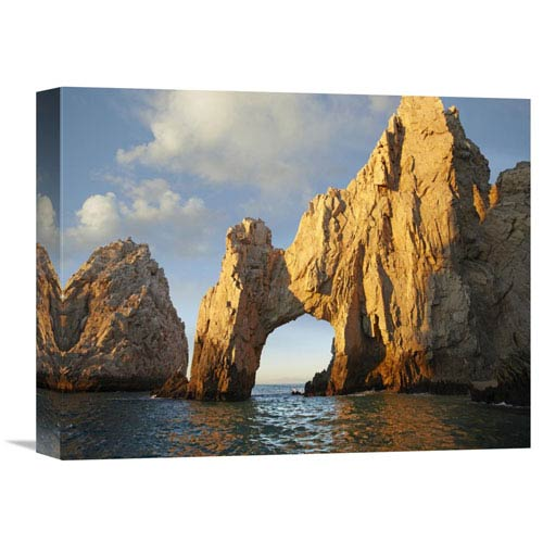 Global Gallery El Arco And Sea Stacks, Cabo San Lucas, Mexico By Tim Fitzharris, 12 X 16-Inch Wall Art