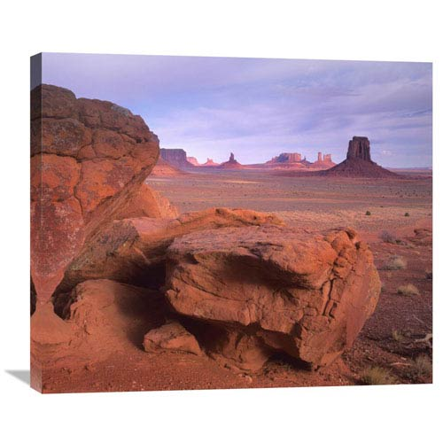 Global Gallery Mittens, North Window, Monument Valley, Arizona By Tim Fitzharris, 25 X 30-Inch Wall Art