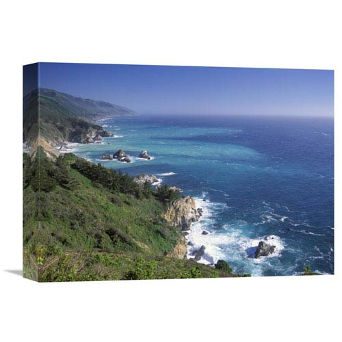 Global Gallery Big Sur Coast From Near Grimes Point, California By Tim Fitzharris, 12 X 16-Inch Wall Art