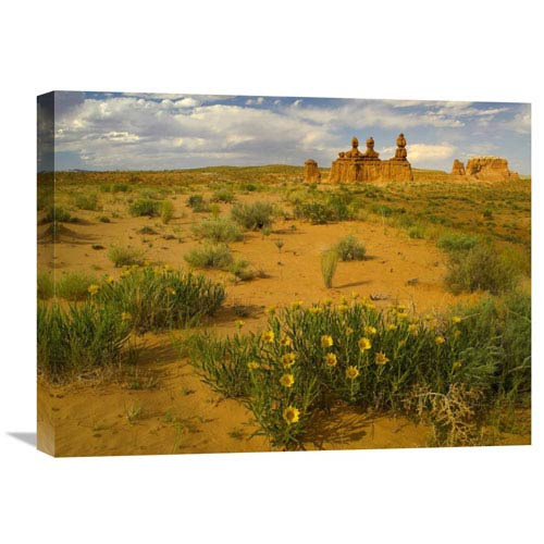 Global Gallery The Three Judges, Goblin Valley State Park, Utah By Tim Fitzharris, 18 X 24-Inch Wall Art