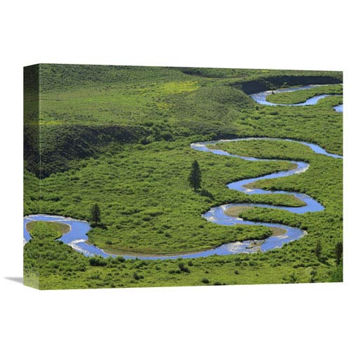 Global Gallery East River Meandering Near Crested Butte, Colorado By Tim Fitzharris, 12 X 16-Inch Wall Art
