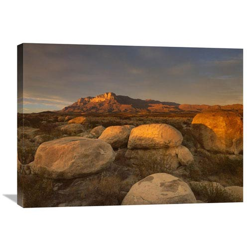 Global Gallery El Capitan, Guadalupe Mountains National Park, Texas By Tim Fitzharris, 24 X 32-Inch Wall Art