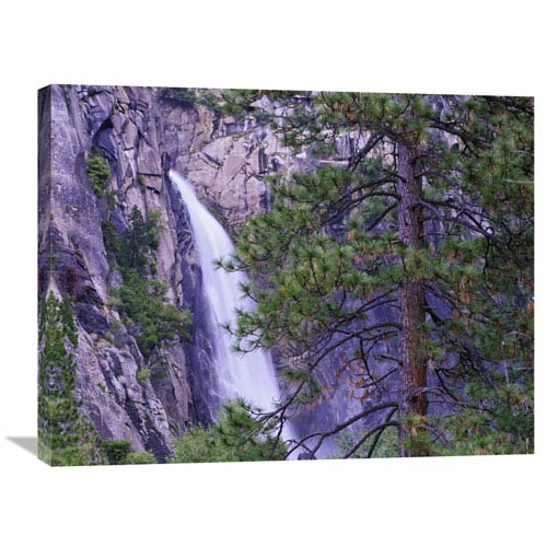Global Gallery The Cascades From Yosemite National Park, California By Tim Fitzharris, 24 X 32-Inch Wall Art