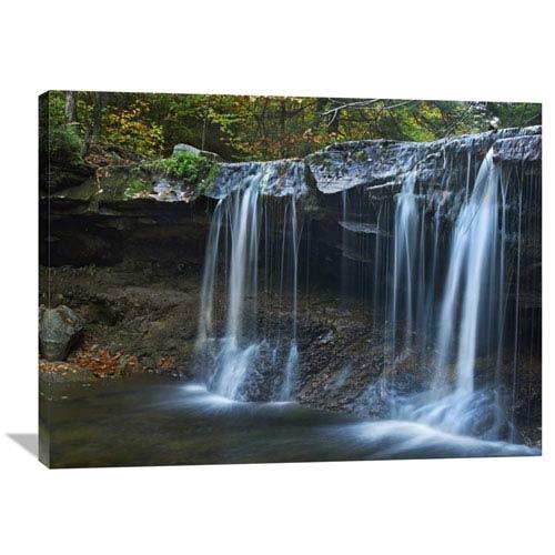 Global Gallery Cayuga Falls, Ricketts Glen State Park, Pennsylvania By Tim Fitzharris, 30 X 40-Inch Wall Art