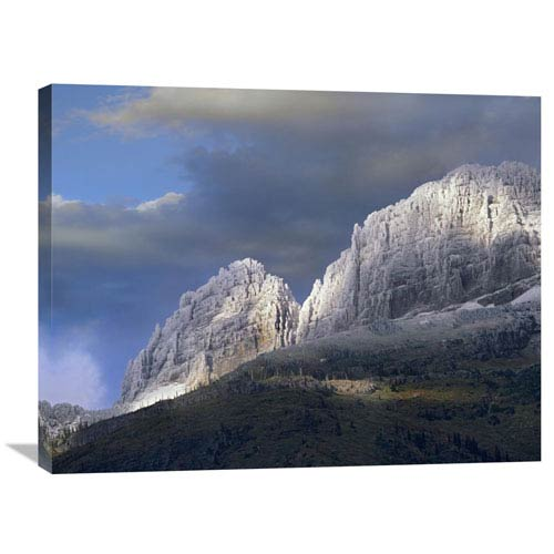 Global Gallery Snow Dusted Mountains, Glacier National Park, Montana By Tim Fitzharris, 24 X 32-Inch Wall Art