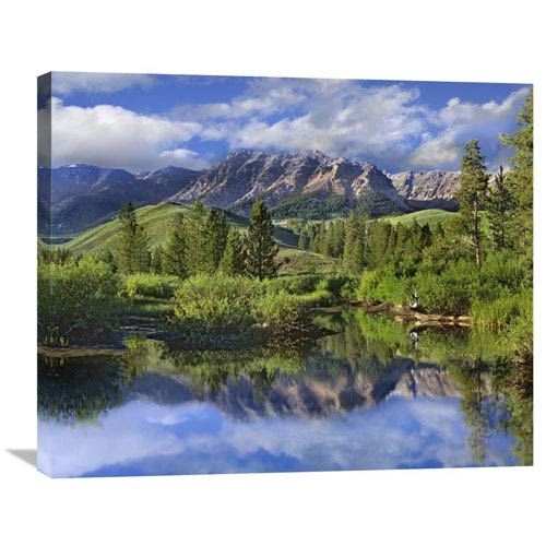 Global Gallery Easely Peak, Sawtooth National Recreation Area, Idaho By Tim Fitzharris, 24 X 30-Inch Wall Art