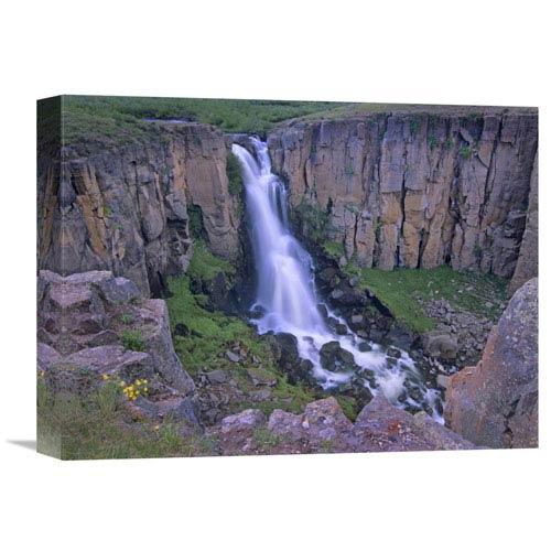 Global Gallery North Clear Creek Falls Cascading Down Cliff, Colorado By Tim Fitzharris, 12 X 16-Inch Wall Art