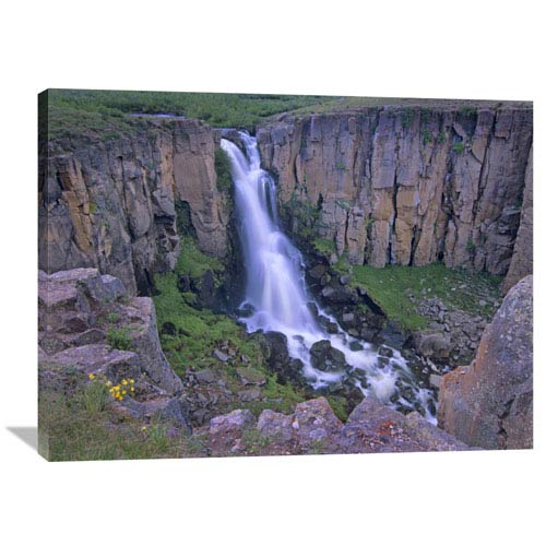 Global Gallery North Clear Creek Falls Cascading Down Cliff, Colorado By Tim Fitzharris, 30 X 40-Inch Wall Art