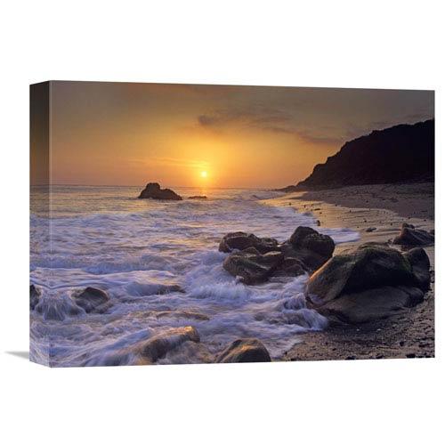 Global Gallery Sunset Over Leo Carillo State Beach, Malibu, California By Tim Fitzharris, 12 X 16-Inch Wall Art