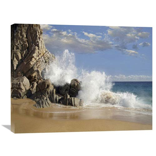 Global Gallery Lovers Beach With Crashing Waves, Cabo San Lucas, Mexico By Tim Fitzharris, 24 X 32-Inch Wall Art
