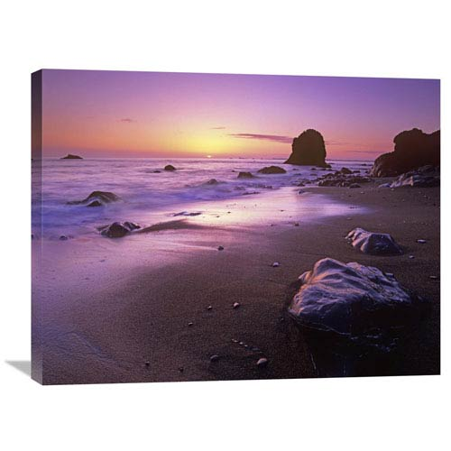 Global Gallery Enderts Beach At Sunset, Redwood National Park, California By Tim Fitzharris, 24 X 32-Inch Wall Art