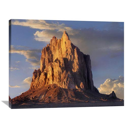 Global Gallery Shiprock, The Basalt Core Of An Extinct Volcano, New Mexico By Tim Fitzharris, 30 X 40-Inch Wall Art