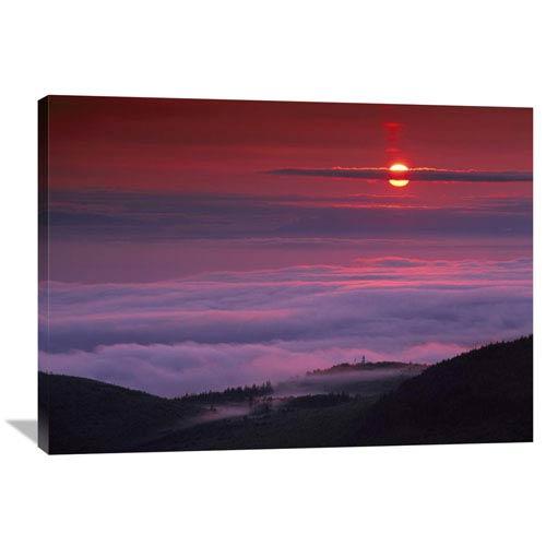 Global Gallery Sunrise At Hurricane Ridge, Olympic National Park, Washington By Tim Fitzharris, 30 X 40-Inch Wall Art
