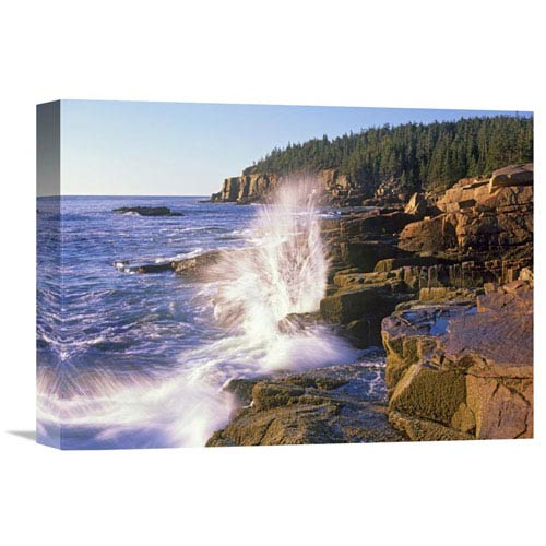 Global Gallery Atlantic Coast Near Thunder Hole, Acadia National Park, Maine By Tim Fitzharris, 12 X 16-Inch Wall Art