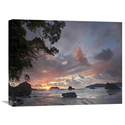 Global Gallery Beach And Coastline, Manuel Antonio National Park, Costa Rica By Tim Fitzharris, 18 X 24-Inch Wall Art