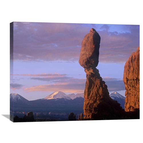 Global Gallery La Sal Mountains And Balanced Rock, Arches National Park, Utah By Tim Fitzharris, 24 X 32-Inch Wall Art