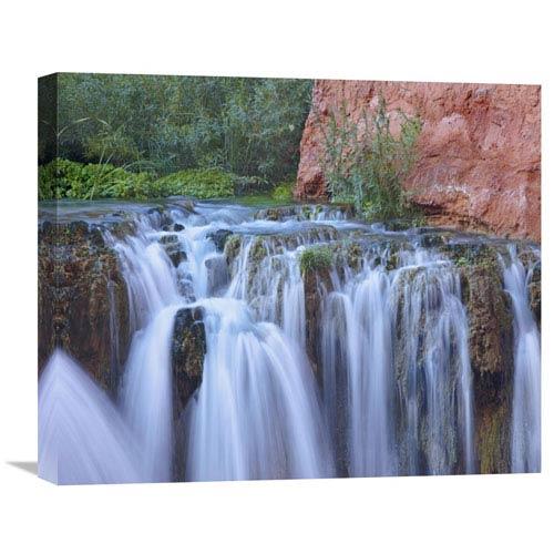 Global Gallery Rock Falls, Havasu Canyon, Grand Canyon National Park, Arizona By Tim Fitzharris, 18 X 22-Inch Wall Art