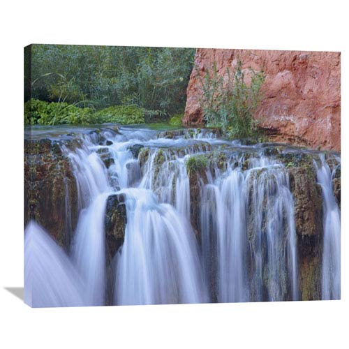 Global Gallery Rock Falls, Havasu Canyon, Grand Canyon National Park, Arizona By Tim Fitzharris, 29 X 36-Inch Wall Art