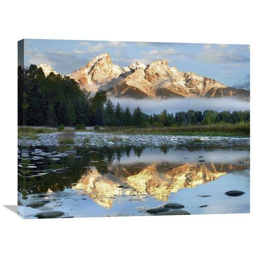 Global Gallery Pond Reflecting Grand Tetons, Grand Teton National Park, Wyoming By Tim Fitzharris, 24 X 32-Inch Wall Art