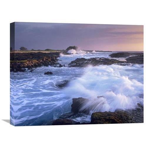 Global Gallery Waves Crashing On Rocky Shore, Wawaloli Beach, Big Island, Hawaii By Tim Fitzharris, 20 X 24-Inch Wall Art