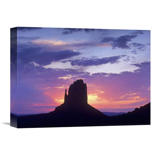 Global Gallery East And West Mittens, Buttes At Sunrise, Monument Valley, Arizona By Tim Fitzharris, 12 X 16-Inch Wall Art