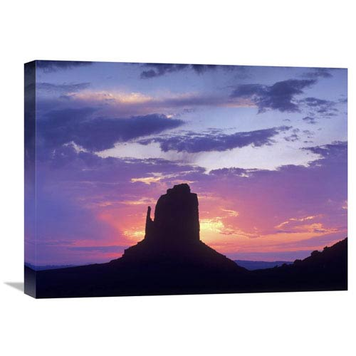 Global Gallery East And West Mittens, Buttes At Sunrise, Monument Valley, Arizona By Tim Fitzharris, 18 X 24-Inch Wall Art