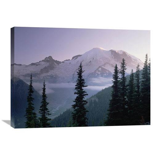 Global Gallery Mt Rainier As Seen At Sunrise, Mt Rainier National Park, Washington By Tim Fitzharris, 24 X 32-Inch Wall Art