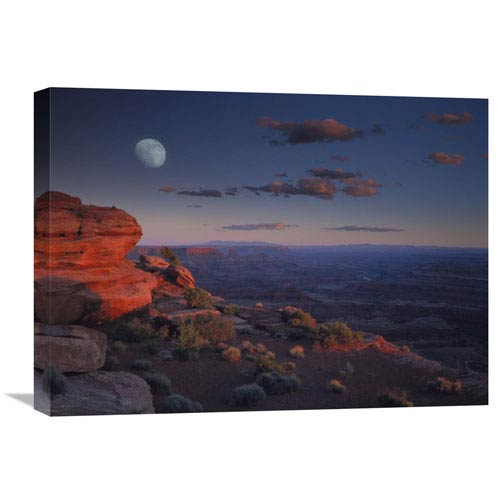 Global Gallery Moon Over Canyonlands National Park From Green River Overlook, Utah By Tim Fitzharris, 18 X 24-Inch Wall Art