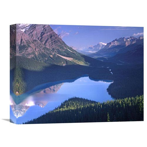 Global Gallery Mount Patterson At Peyto Lake, Banff National Park, Alberta, Canada By Tim Fitzharris, 12 X 16-Inch Wall Art