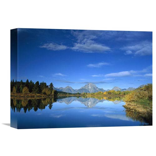 Global Gallery Mt Moran Reflected In Oxbow Bend, Grand Teton National Park, Wyoming By Tim Fitzharris, 12 X 16-Inch Wall Art