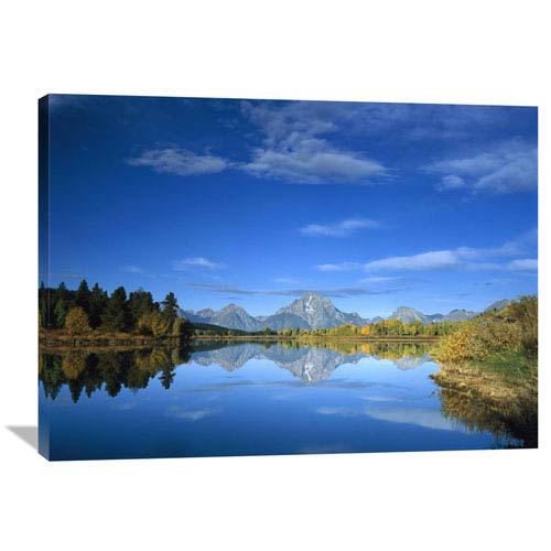 Global Gallery Mt Moran Reflected In Oxbow Bend, Grand Teton National Park, Wyoming By Tim Fitzharris, 30 X 40-Inch Wall Art