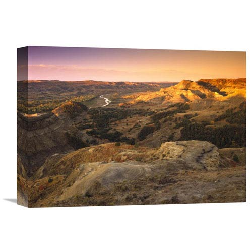 Global Gallery Little Missouri River, Theodore Roosevelt National Park, North Dakota By Tim Fitzharris, 12 X 16-Inch Wall Art