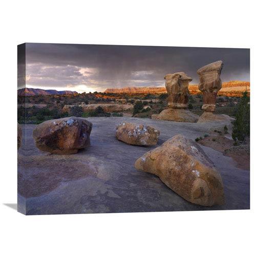 Global Gallery Devils Garden Sandstone Formations, Escalante National Monument, Utah By Tim Fitzharris, 18 X 24-Inch Wall Art