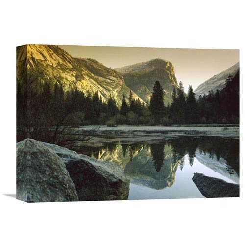 Global Gallery Mt Watkins Reflected In Mirror Lake, Yosemite National Park, California By Tim Fitzharris, 12 X 16-Inch Wall