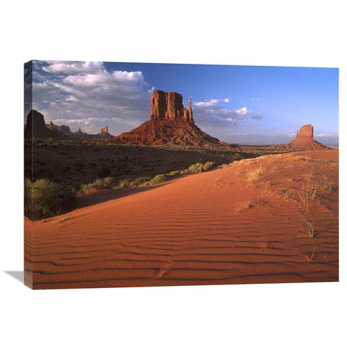 Global Gallery Sand Dunes And The Mittens, Monument Valley Navajo Tribal Park, Arizona By Tim Fitzharris, 24 X 32-Inch Wall