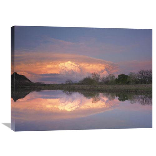 Global Gallery Storm Clouds Over South Llano River, South Llano River State Park, Texas By Tim Fitzharris, 24 X 32-Inch Wall