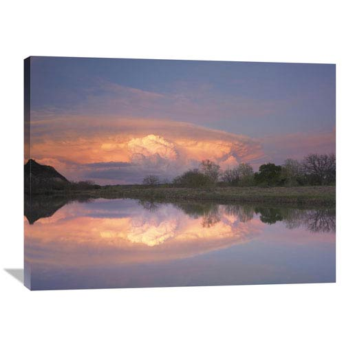 Global Gallery Storm Clouds Over South Llano River, South Llano River State Park, Texas By Tim Fitzharris, 30 X 40-Inch Wall