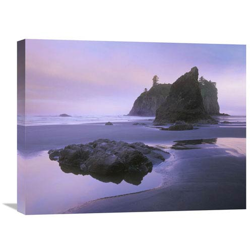 Global Gallery Ruby Beach With Seastacks And Boulders, Olympic National Park, Washington By Tim Fitzharris, 18 X 24-Inch Wall