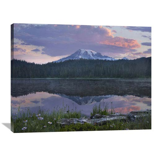 Global Gallery Mount Rainier And Reflection Lake, Mount Rainier National Park, Washington By Tim Fitzharris, 30 X 40-Inch