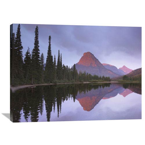 Global Gallery Mount Sinopah Reflected In Two Medicine Lake, Glacier National Park, Montana By Tim Fitzharris, 30 X 40-Inch