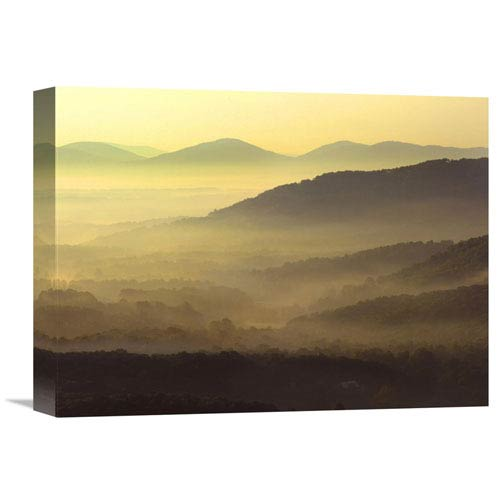 Global Gallery Appalachian Mountains From Doughton Park, Blue Ridge Parkway, North Carolina By Tim Fitzharris, 12 X 16-Inch
